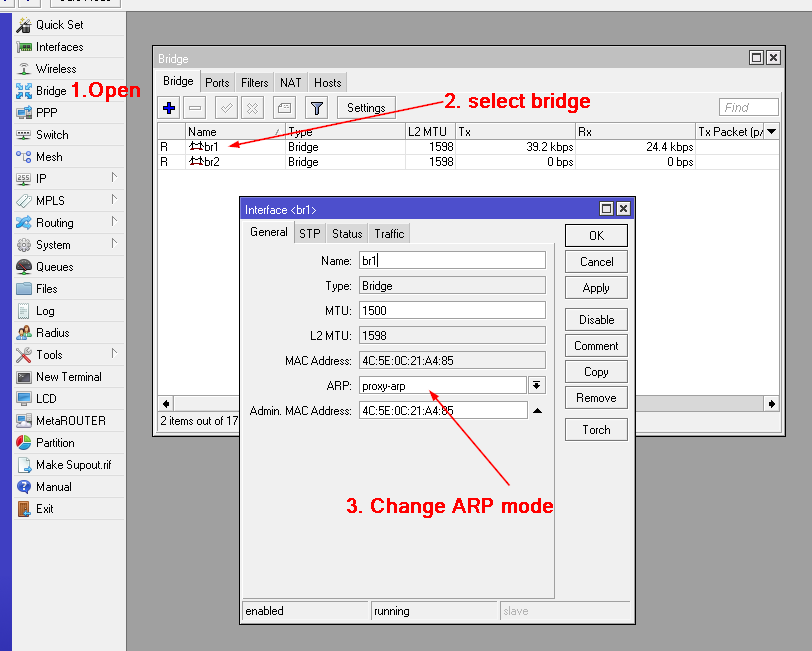 VPN bridge configuration